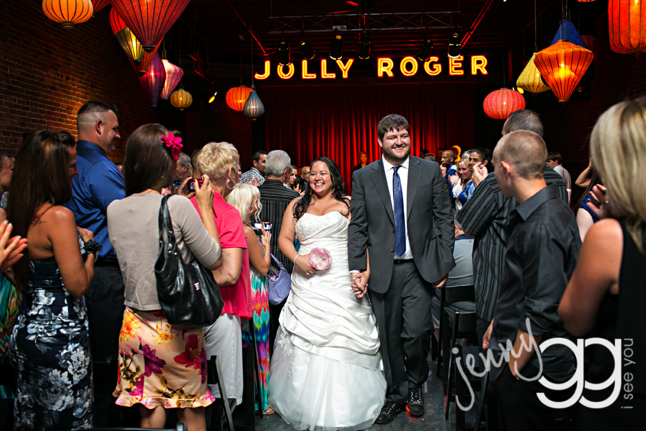georgetown ballroom wedding couple after ceremony by jenny gg