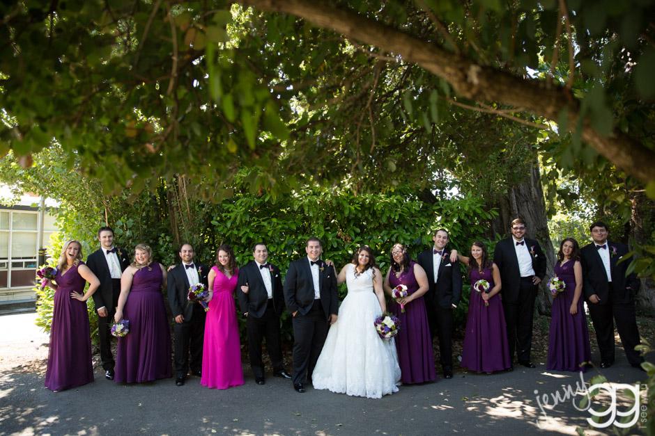 wedding party at greek wedding in seattle