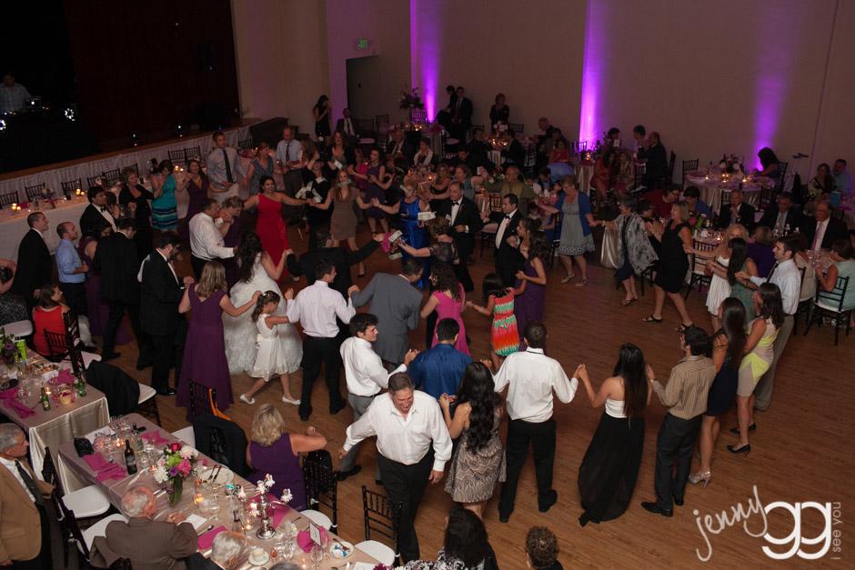 greek dancing at greek wedding