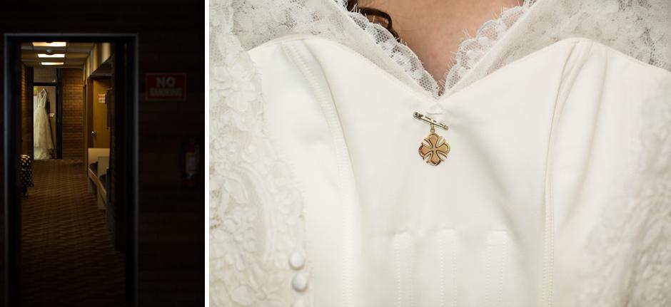 wedding dress at greek wedding