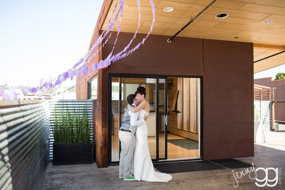 lesbian wedding at within sodo by jenny gg