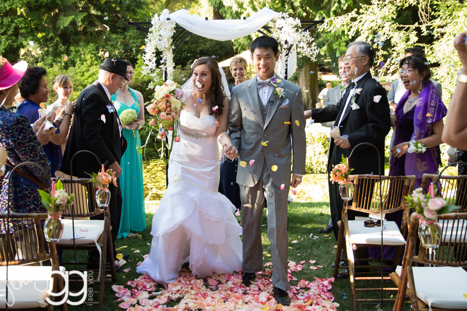 flower petal recessional at delille cellars