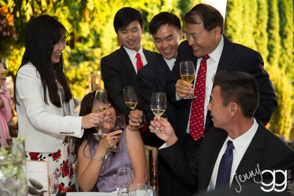 toast at delille cellars during reception