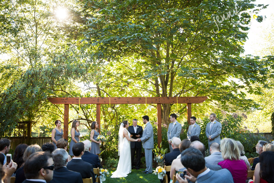 ceremony at the hall at fauntleroy in west seattle by jenny gg