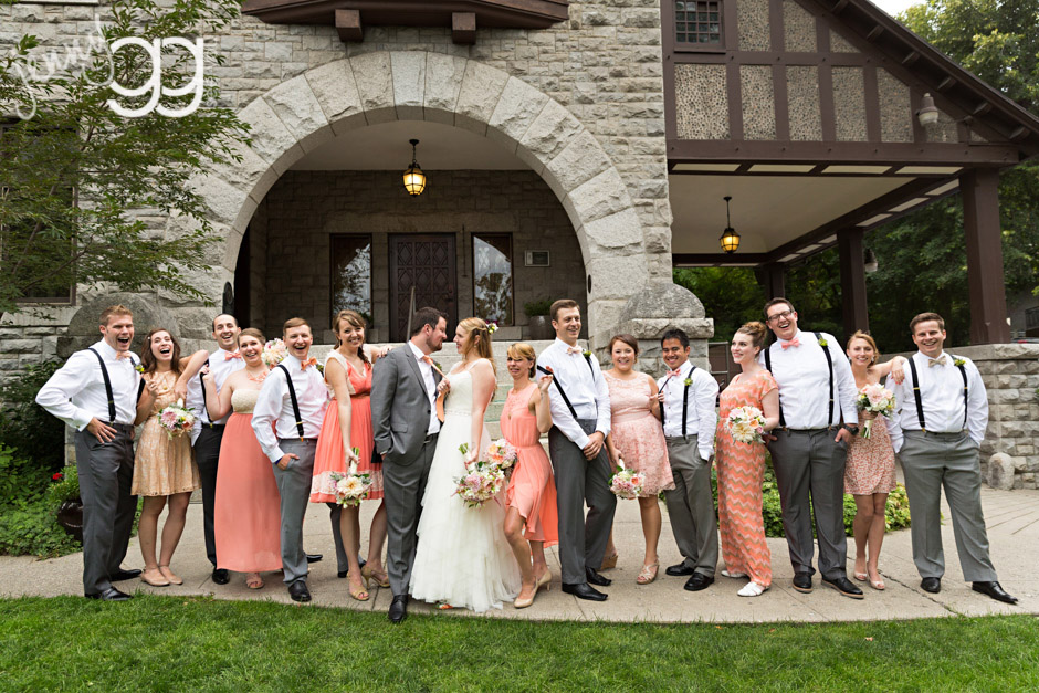 glover mansion wedding party