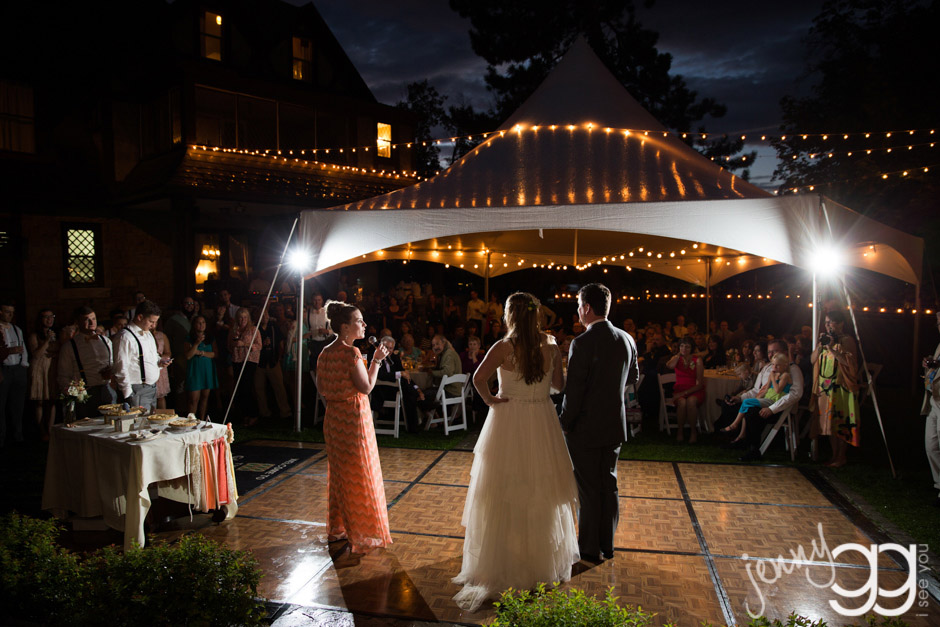 glover mansion reception toasts