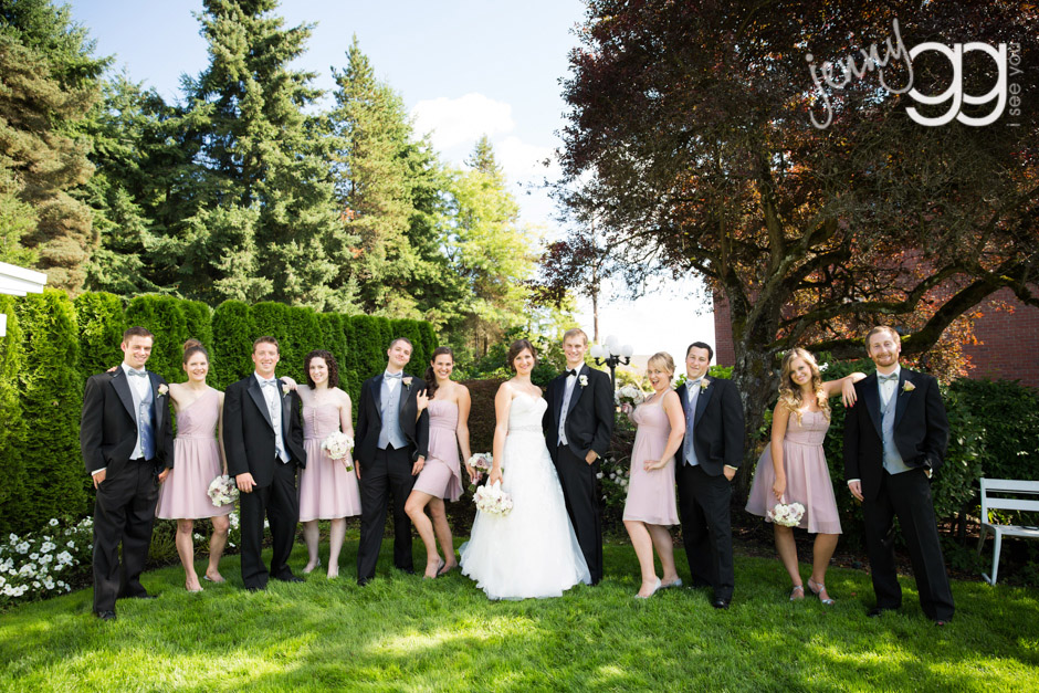 wedding party photo at hollywood schoolhouse
