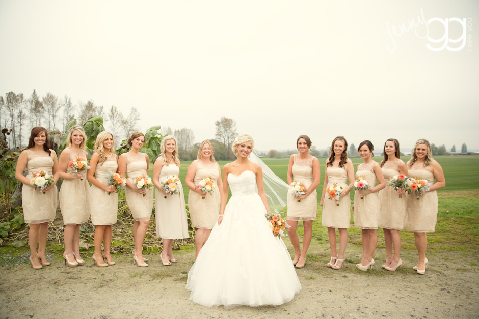 bridesmaids photo at hidden meadows