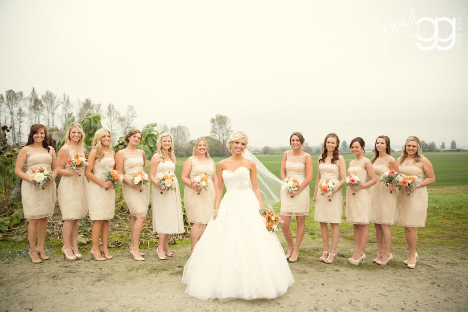 bridesmaids photo at hidden meadows