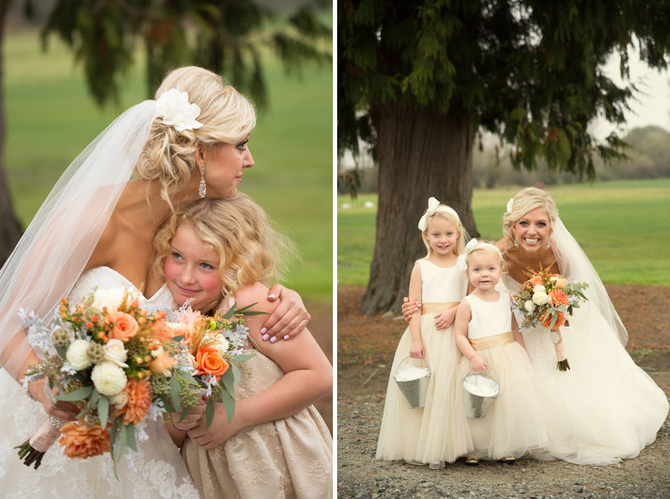 flowergirls with bride at hidden meadows