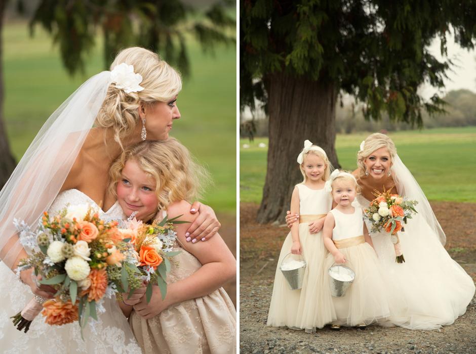 flowergirls with bride at hidden meadows