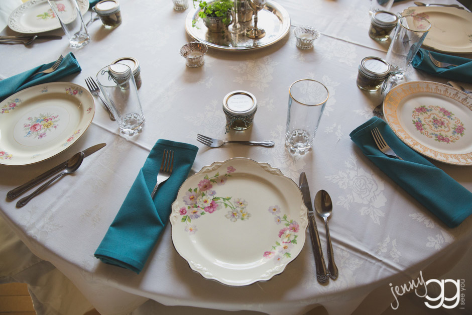 vintage table ware and china wedding jenny gg