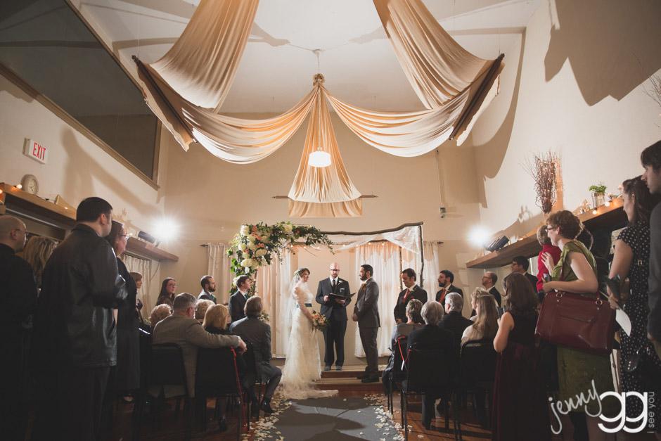 wedding ceremony under huppa by jenny gg