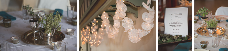 vintage wedding details at aerie ballroom by jenny gg