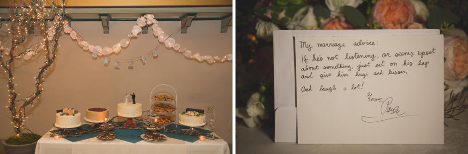 reception details at vintage wedding by jenny gg