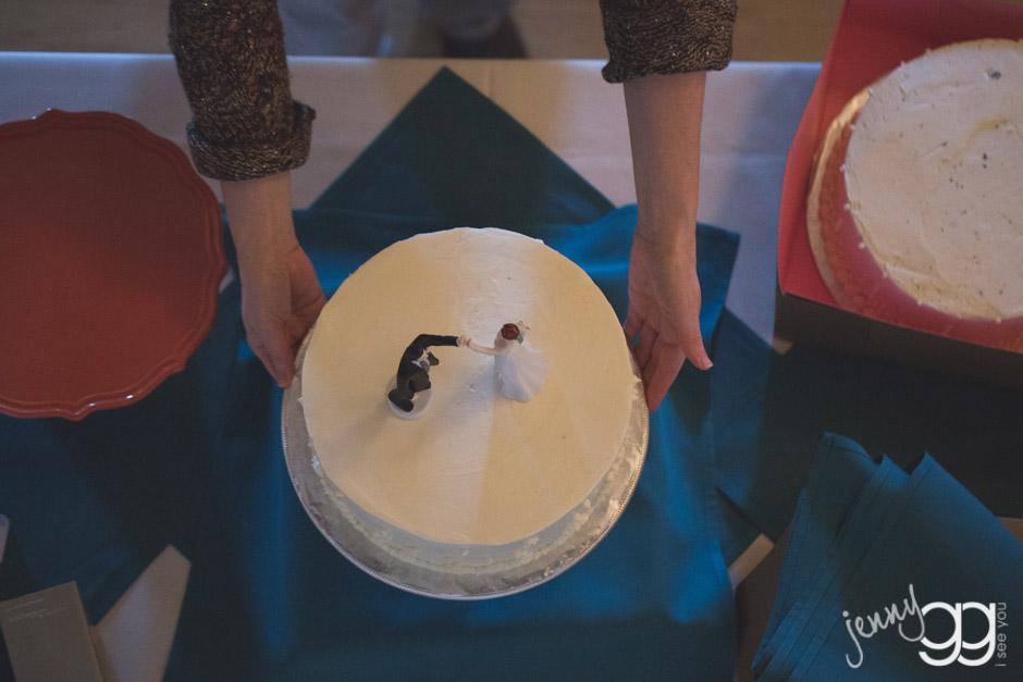 wedding cake photo by jenny gg