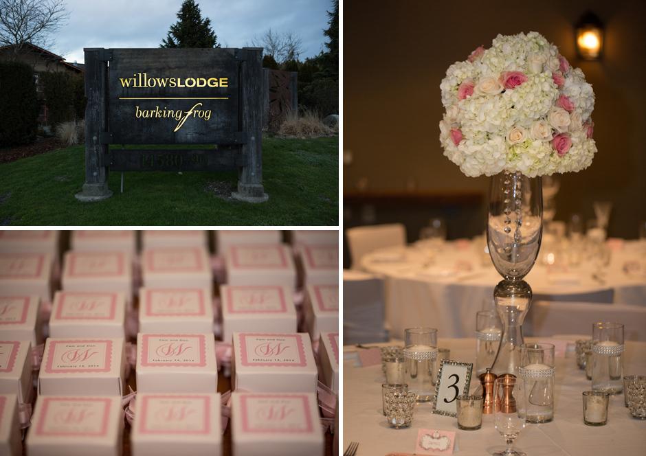 willows lodge wedding details