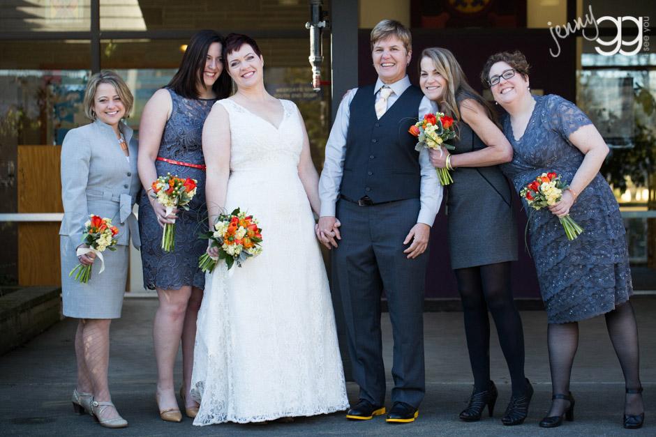 same sex wedding party by jenny gg