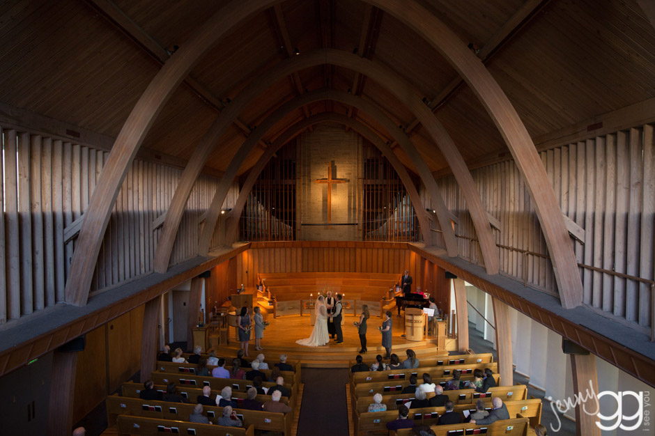 church wedding ceremony by jenny gg