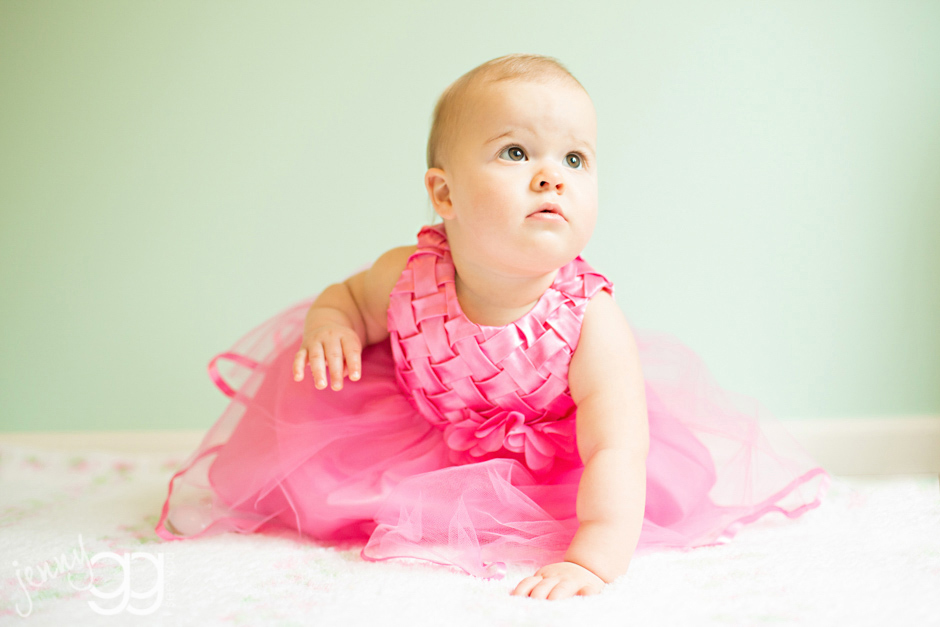 one year old girl pink dress by jenny gg