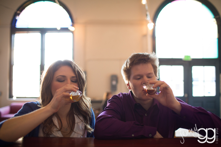 couple at machine house brewery in georgetown