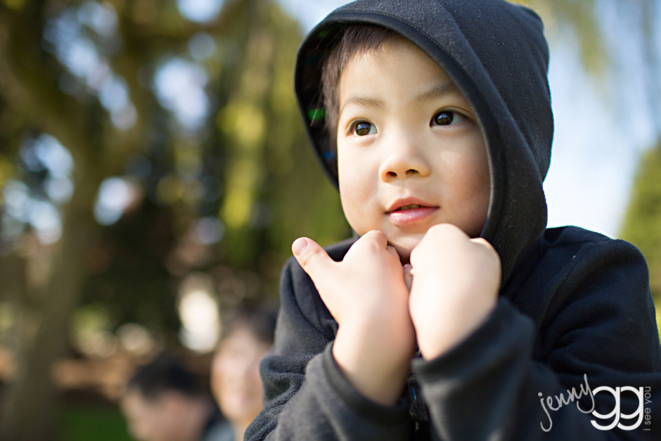 boy at park in bellevue