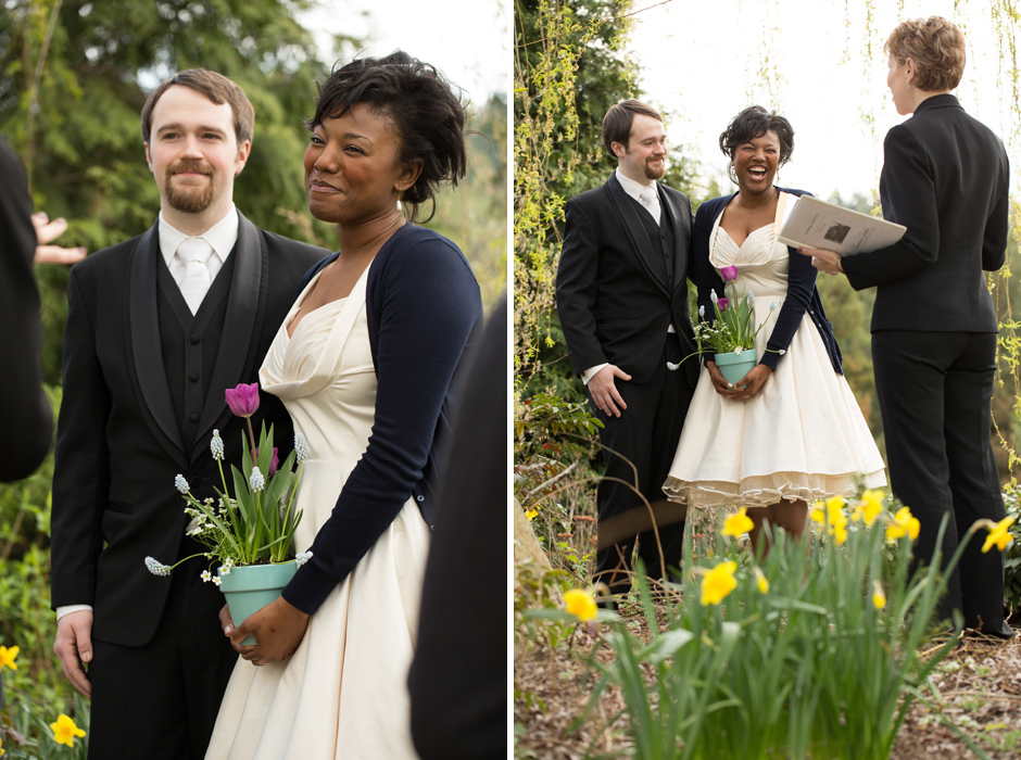 bride and groom elopement at willows lodge