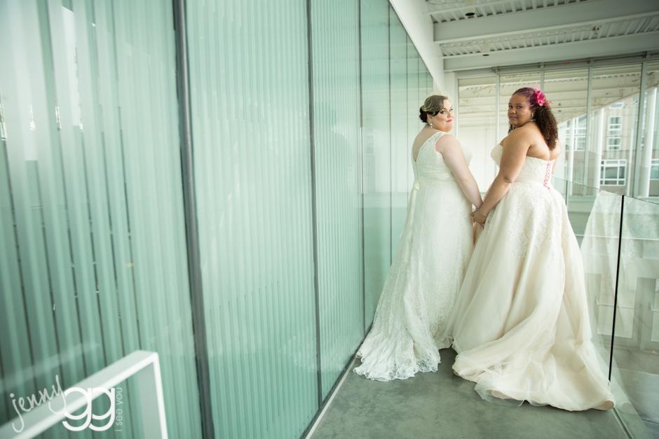 lesbian brides at paccar pavillion