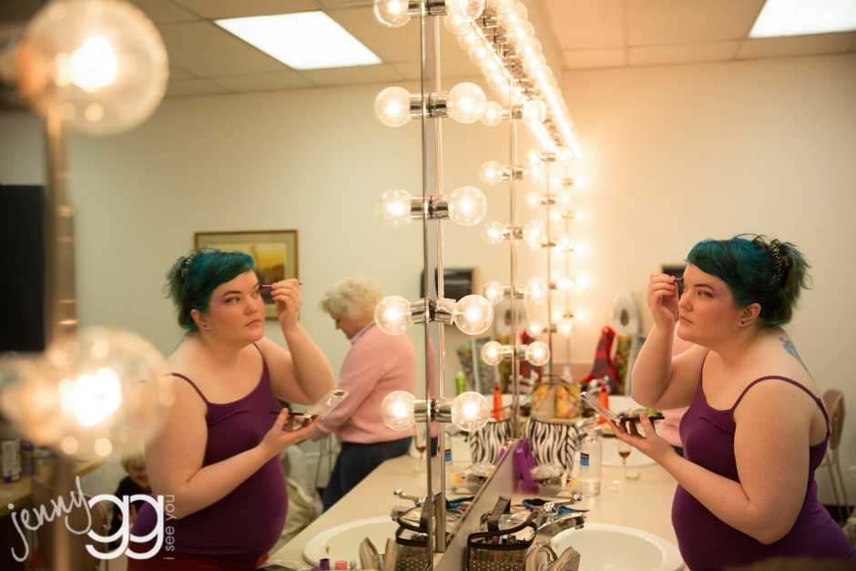 bride getting ready at green river community college