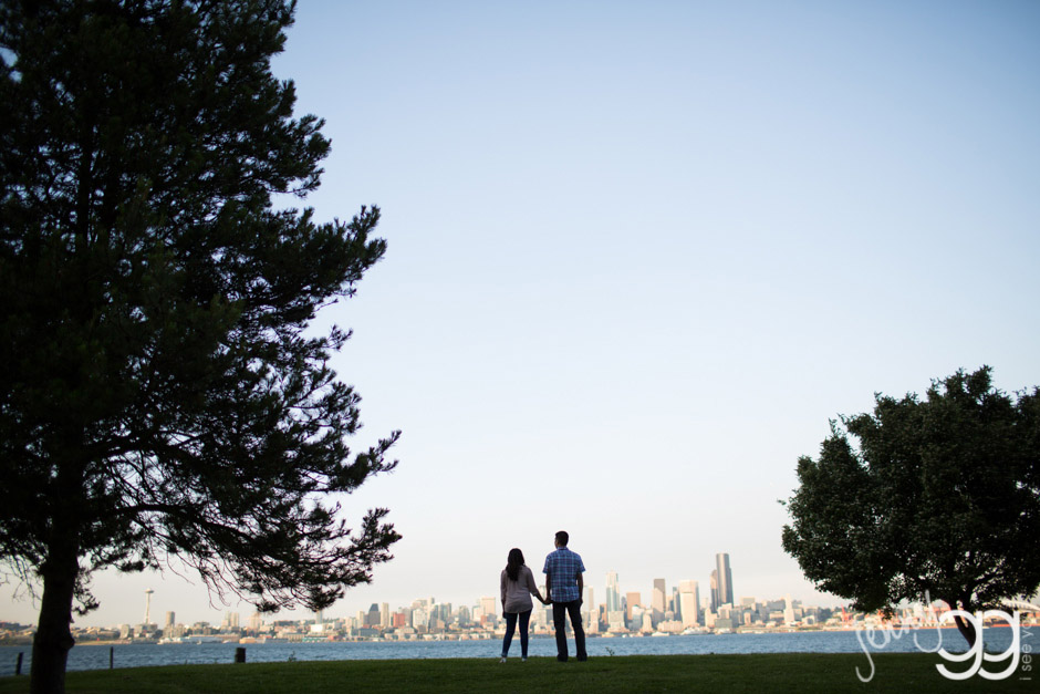 west seattle engagement, alki, california ave, wedding, seattle