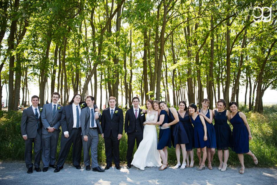 wedding party at golden gardens beach