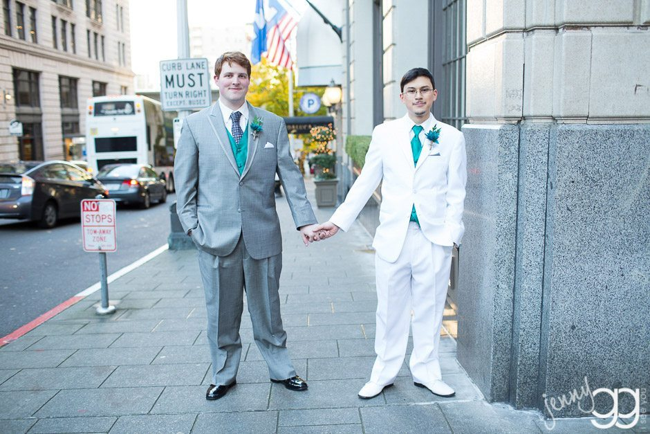 gay wedding in seattle at mayflower hotel by jenny gg