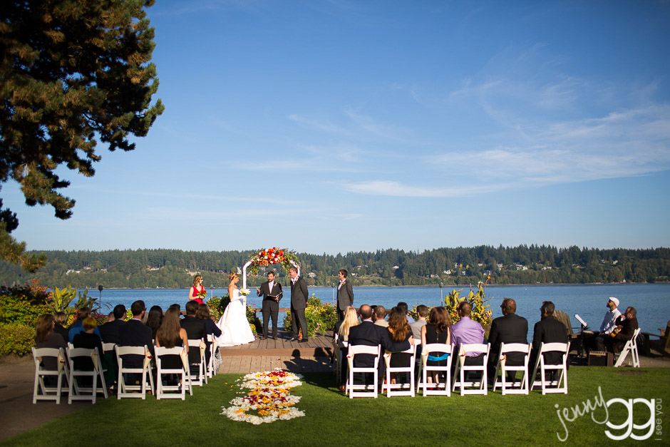 ceremony at kiana lodge by jenny gg