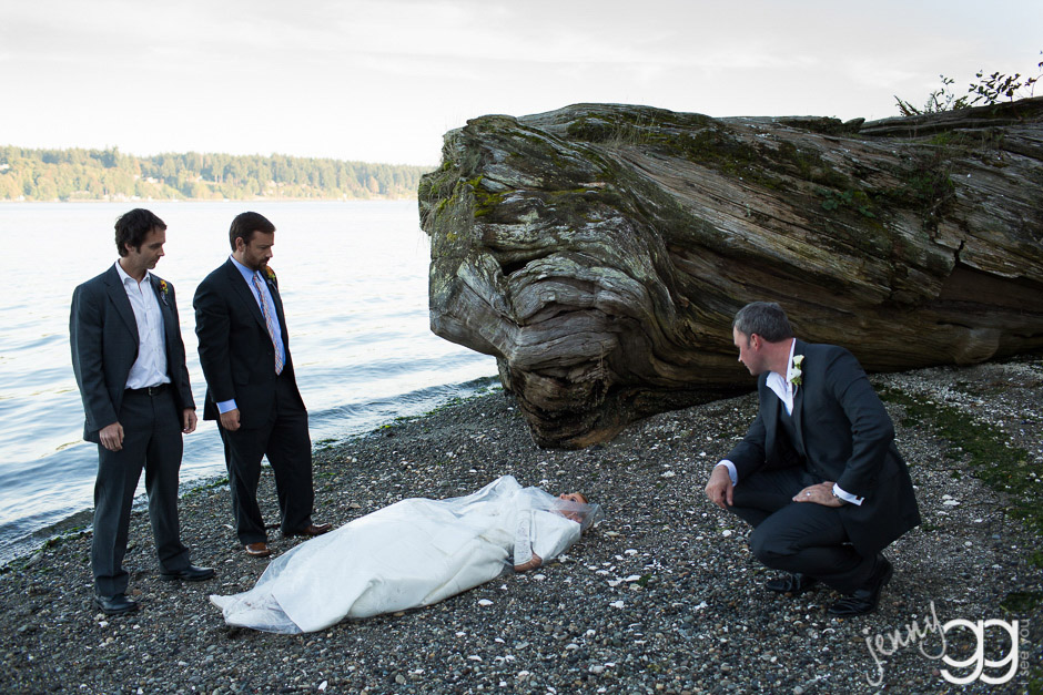 twin peaks themed wedding at kiana lodge by jenny gg