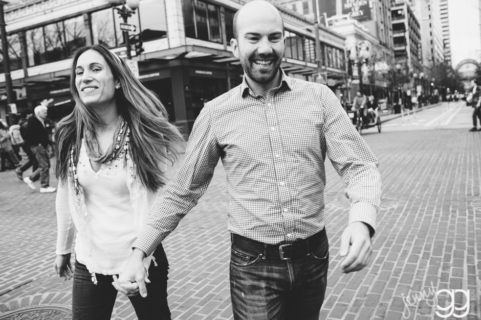engagement session downtown seattle by jenny gg