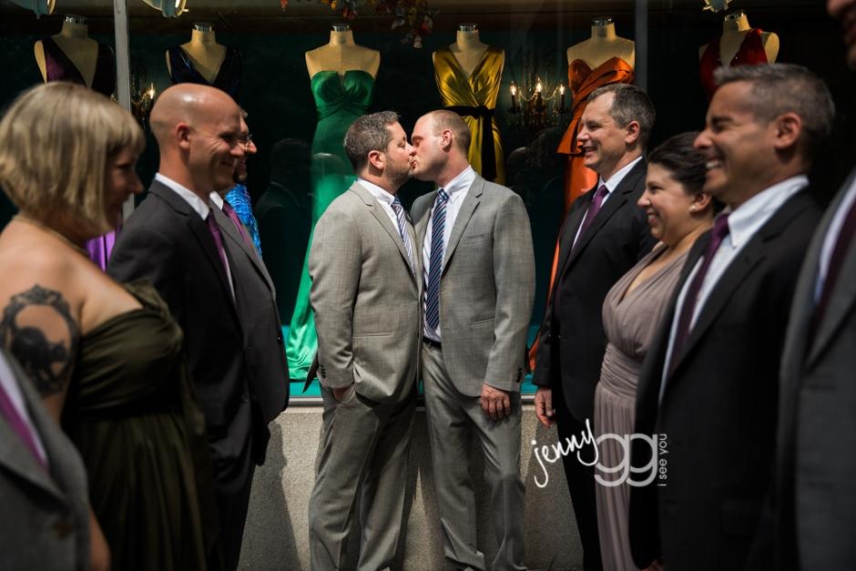 fairmont olympic hotel, wedding, same sex wedding, gay wedding, jenny gg