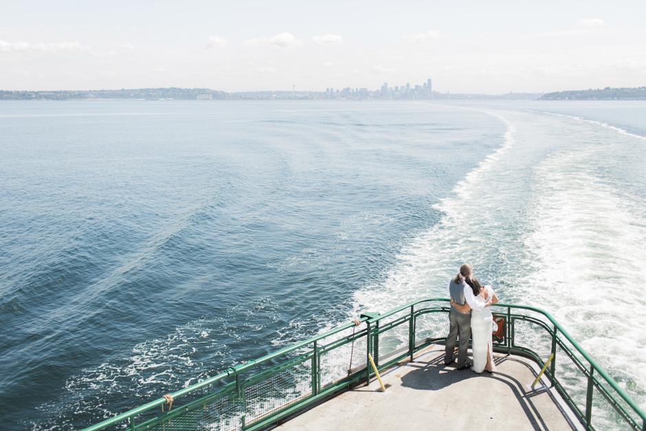 vow renewal on bainbridge ferry by jenny gg
