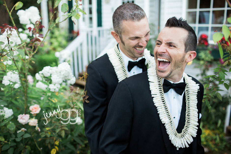 same sex wedding in bellingham by jenny gg
