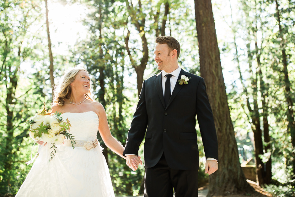 bride and groom in seattle by jenny gg