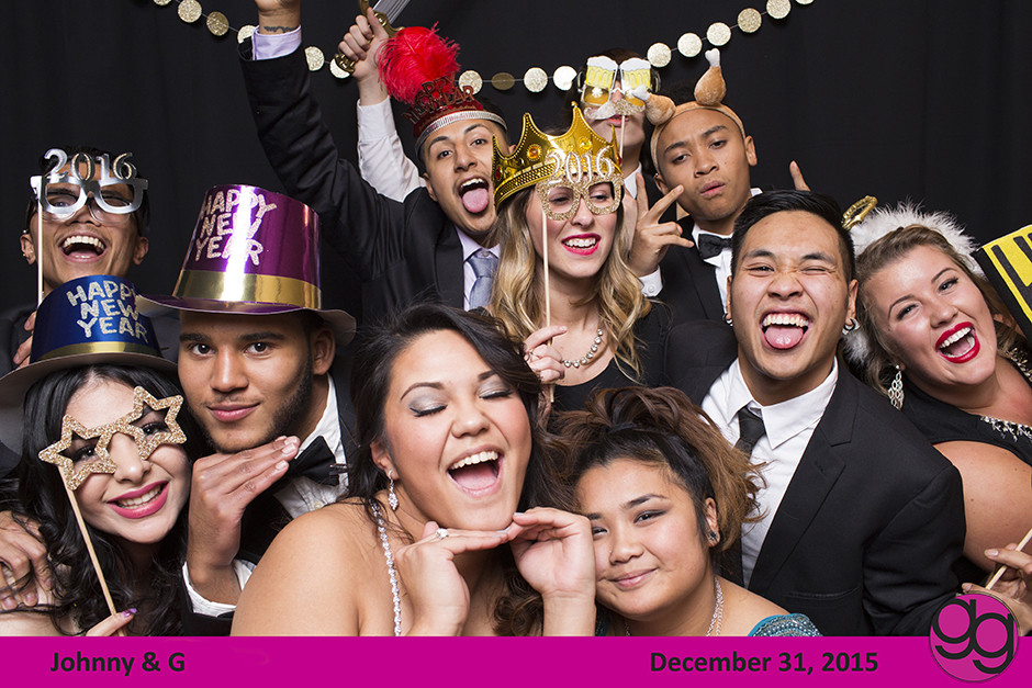 gg fauxtobooth, new year's eve wedding